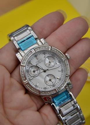 Хронограф. женские часы с бриллиантами invicta оригинал!