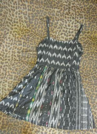 Летнее короткое платье, платье хлопковое с карманами