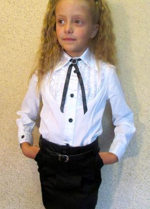 Стильная новая школьная форма жилет с юбочкой цвет черный 122-1404 фото