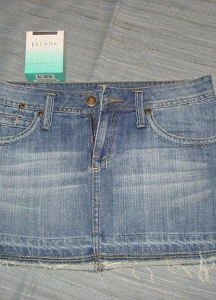 Классная дерзкая джинсовая юбка mango р. 10