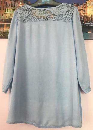 Нежная натуральная кружевная блуза