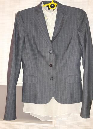 Итальянский шерстяной жакет пиджак блейзер
