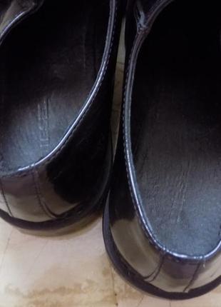 100% оригинал diesel 300€ черные кожаные туфли  25-25,5 см по стельке5 фото