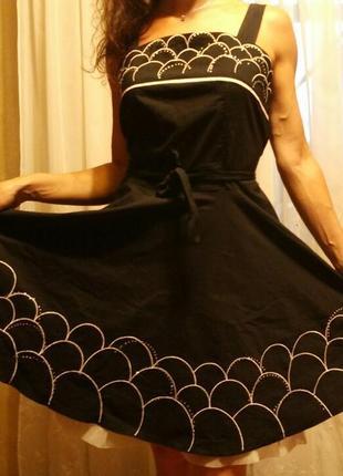 Шикарный летний сарафан платье с широкой юбкой солнце на поясе