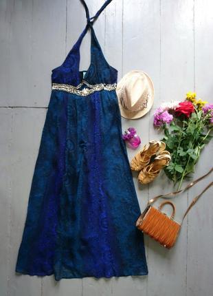 Невероятно красивое пляжное макси платье сарафан №147