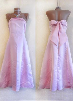 Красивое нежно розовое нарядное праздничное платье(m, l)