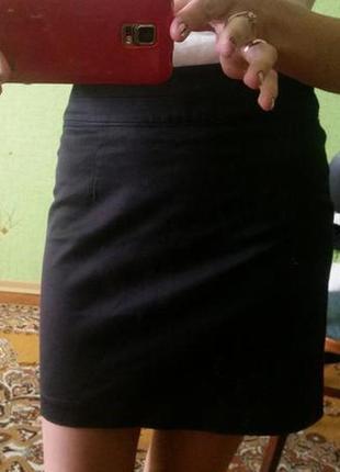 Юбка черная короткая h&m
