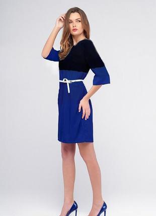 Платье черно - синее, полиэстр, м-l