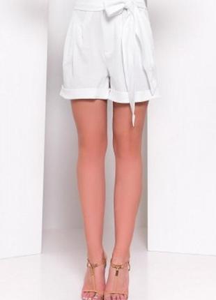 Стильные белые шорты bandolera  тонкие натуральные голландия