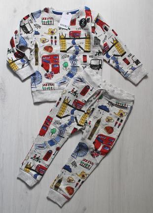 Яркий костюм next (набор, комплект) на 3-4 года, штаны и свитшот