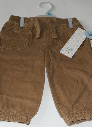 Шикарные вельветовые штаны от тм f&f из англии на 6-9 и 9-12 мес