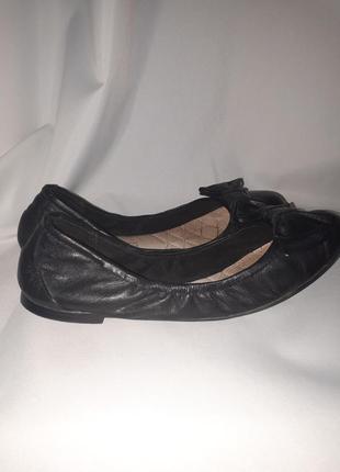 Кожаные балетки/ туфли next стелька 23 см