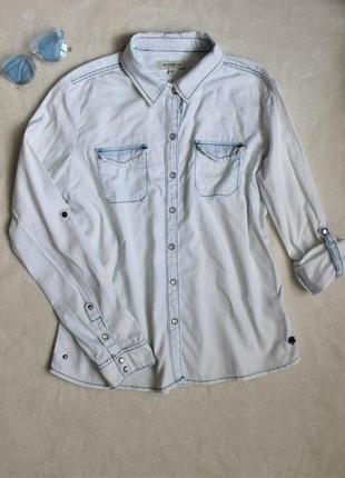 Классная светлая джинсовая рубашка , размер xl