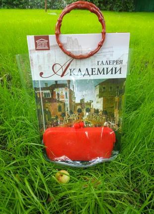 Прозрачная сумка с бамбуковыми ручками