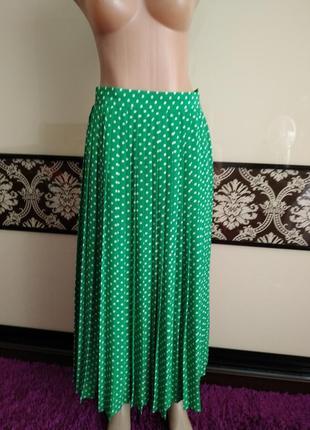 Юбка миди, плесированная юбка