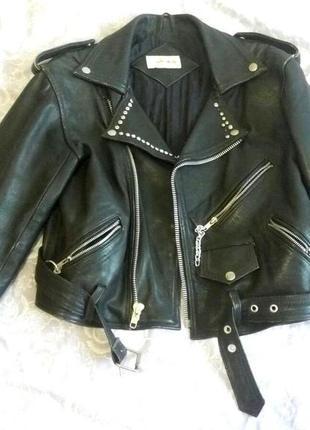 Женская косуха/кожанная куртка/мото-куртка