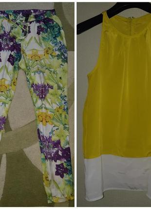 Яркий летний костюм брюки-майка mango