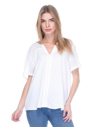 Белая блуза с прозрачным верхом promod pp m-l(44) распродажа, последняя!