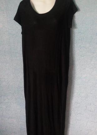 Чёрное платье длинное в пол