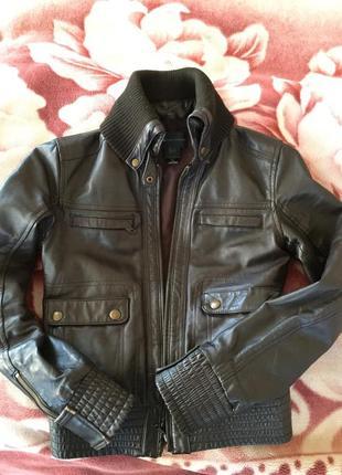 Куртка манго кожа5