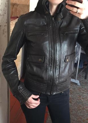 Куртка манго кожа2