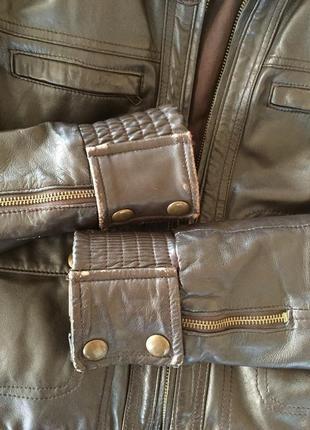 Куртка манго кожа4