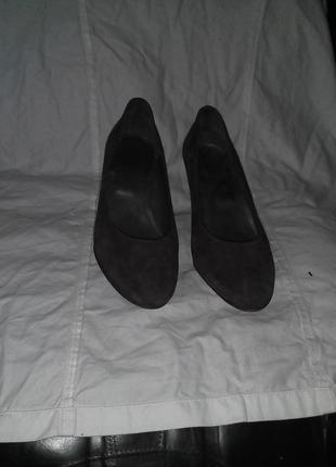 Туфлі  темнокоричневі 38,5 р по ст 26 см