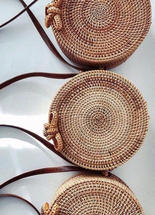 Круглая плетеная сумочка zara