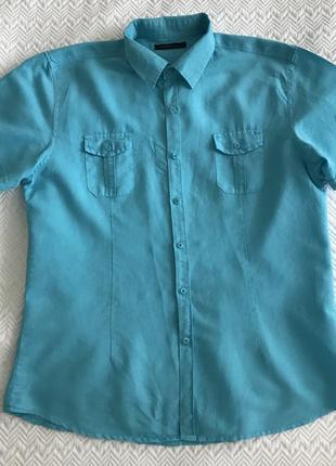 Рубашка brother-f с коротким рукавом голубая