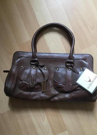 Новая кожаная сумка clarks
