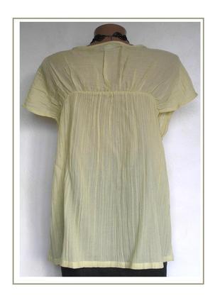 Xl, -friendtex- германия, невесомая футболка блуза жатка, хлопок+вискоза, новая