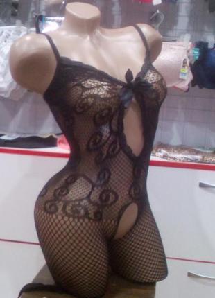 Эротический сексуальный комбинезон боди сетка3 фото