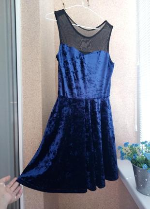 Бархатное платье new look
