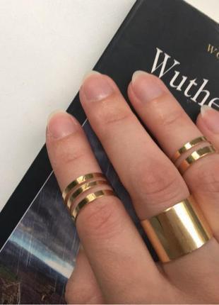 """Золотые кольца, набор колец """"популярный"""""""