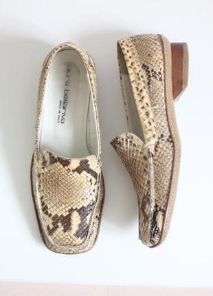 Кожаные туфли лоферы мокасины, натуральная кожа змеи, бренд jaura bellariva italy