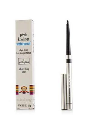 Sisley - phyto khol star - водостойкий карандаш для глаз 1- sparkling black