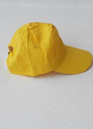 Желтая летняя хлопковая кепка бейсболка