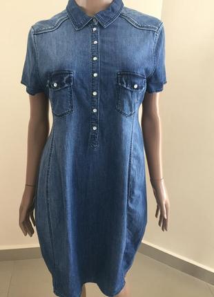 Джинсове плаття на короткий рукав для вагітних