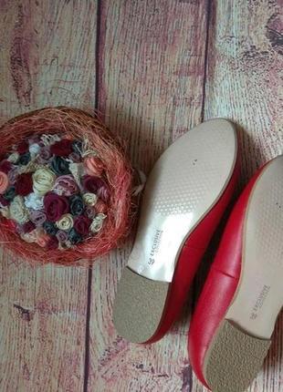 Кожа! красивые туфли, балетки на низком ходу4 фото