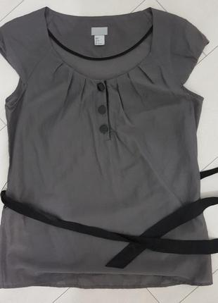 Шелковая блуза h&m
