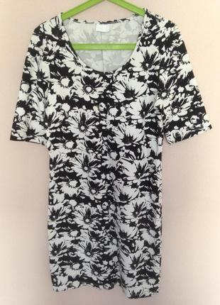 Черно-белое платье vila