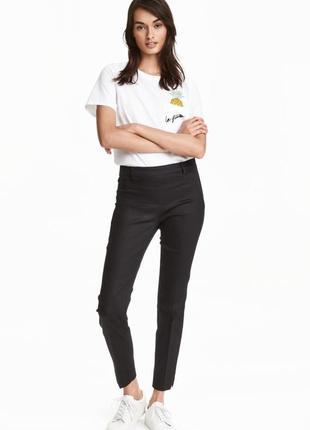 Укороченные брюки слаксы женские h&m м