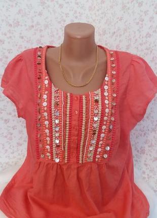 Нарядная красивая блуза monsoon р-р 52