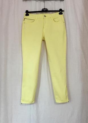 Яркие, летние скинни, брюки, джинсы лимонного цвета