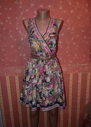 Платье с юбкой солнце-клеш