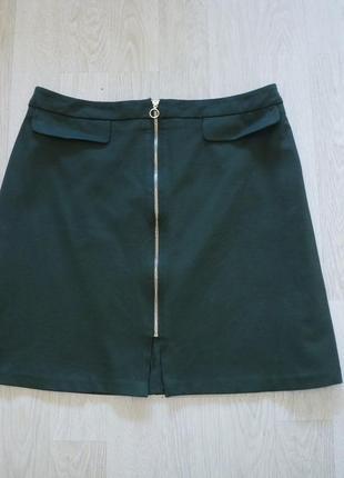 Модная юбка трапеция на змейке спереди от f&f