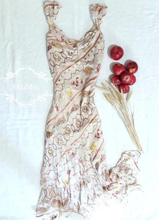 До -50% на все лето!!! шелковое платье с вышивкой из бисера и пайеток, m-l, испания