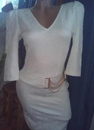 Нереально-шикарное дорогое набивное рельефное платье от la&b&la