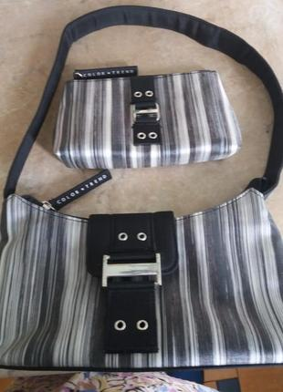 Текстильная сумочка-клатч с косметичкой  avon