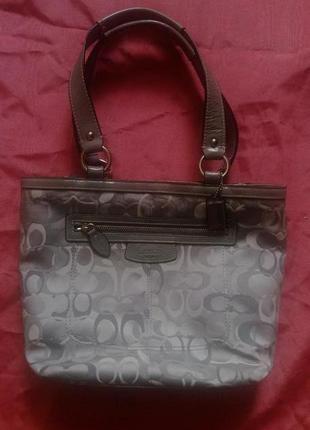 Брендовая, номерная, текстильная летняя сумка